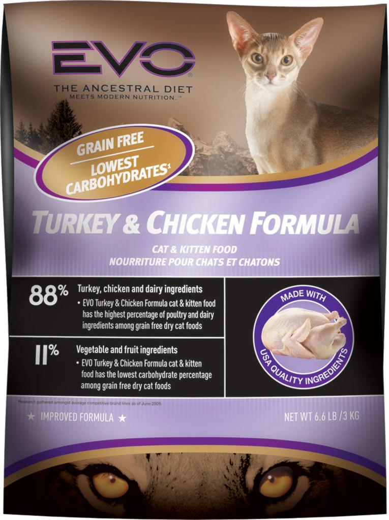 Evo Grain Free Turkey Chicken Formula Cat Food