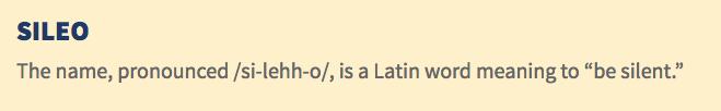 Sileo pronounce