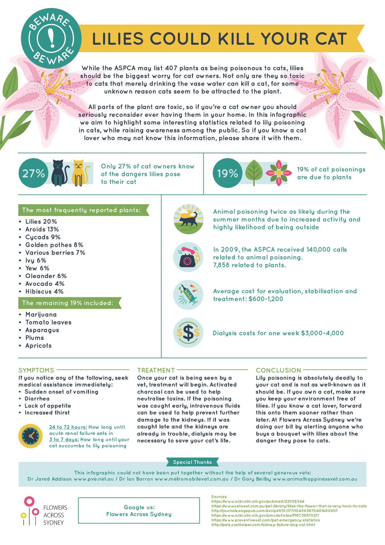 Cats Lilies Infographiconline Dr Justine Lee Dr Justine Lee