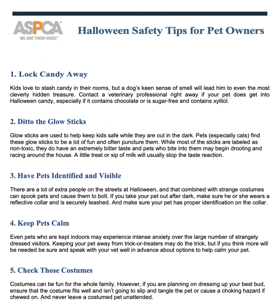 Pet tips from the ASPCA Animal Poison Control Center