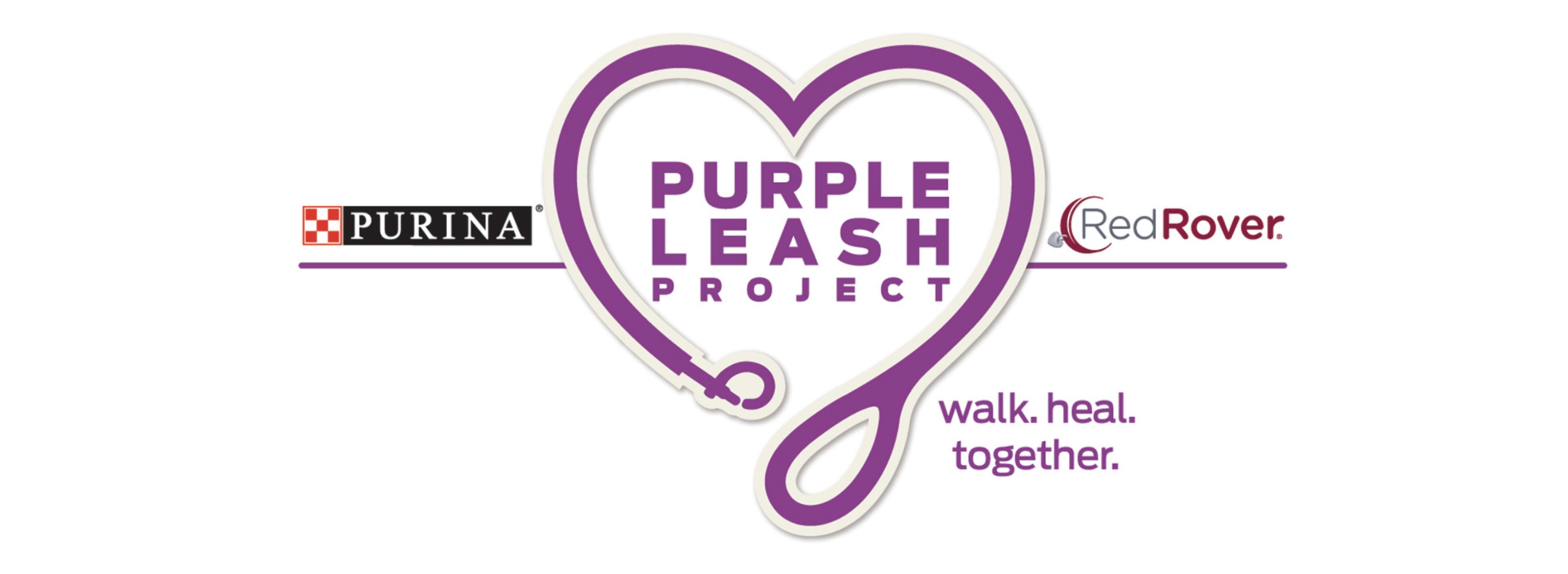 The Purina Purple Leash Project supporting victims of domestic abuse