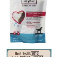 """I and Love and You"" dog treat recall due to Salmonella 