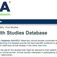 Animal Health Studies Database by AVMA | Dr. Justine Lee